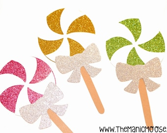 Photo Booth Props ~ Set of 3 Swirl Lollipops ~ Part of The Sugar Shoppe Collection ~ LIMITED EDITION Photo Booth Props