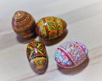 Painted Wooden Easter Eggs