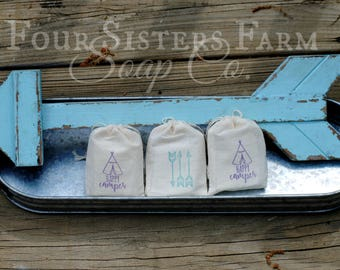 Happy Camper Baby Shower, Happy Camper Party Favors, Happy Camper Favors, Arrow Favors, Teepee Baby Shower, Baby Shower Soap Favors