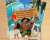 Moana, Moana Birthday, Disney Moana Party, Moana Epic Birthday - Personalized Digital Thank You Card