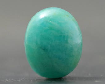 Oval Amazonite Sea Green Gemstone Jewelry Making Cabochon Natural Sea Green Gem Healing Properties Crystal Stone Throat Chakra (CA8545)