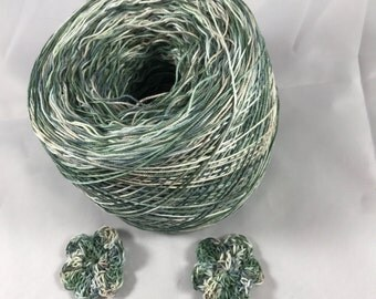 Crochet Cotton - Size 10 - Hand Dyed - Solitude - Large Project Size - 150, 200, 250 or 300 Yards