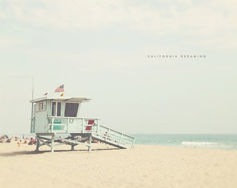 Los Angeles Beach, California Beach Art, California Beach, Beach Bums, Beach Photography, Beach Prints, Beach Art, LA Lifeguard Tower