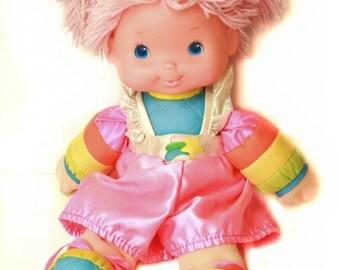 "Rainbow Brite Vintage Baby Tickled Pink 16"" doll"