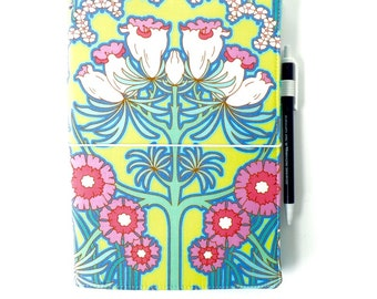 LEUCHTTURM1917 Leuchtturm 1917 cover Med A5 Soul Blossoms Midori Fauxdori Fabric Travelers Notebook Wide Faux Dori Moleskine Planner Cover