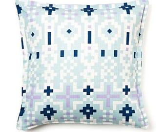 tribal pillows, boho pillows, decorative pillows, blue pillows, throw pillows, sale pillows, 14x14 inch pillow, pillow cover, home decor
