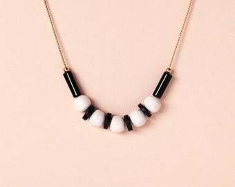 Necklace by Depeapa - JAIA - Jarana Collection - Jewellery, black and white necklace