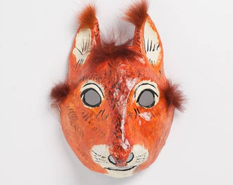 carnival squirrel paper mask