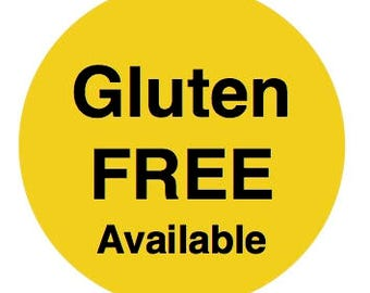 GLUTEN FREE AVAILABLE. Please convo request