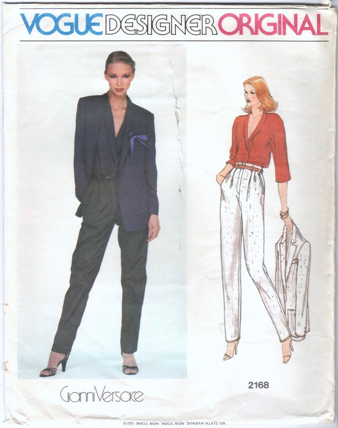 1970s Versace suit and blouse pattern Vogue 2168