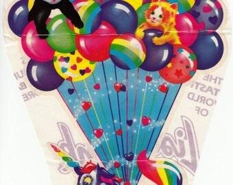 SALE Lisa Frank Unicorn and Balloons JUMBO Vintage Sticker Sheet - 80's Huge Markie Panda Bear Kitten Illustration Collectable