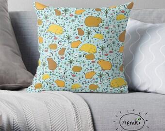Capybara Pillow, Capybara Cushion, Capybara Throw Pillow, For Capybara Fans, Cute Capybara Gift, Capybara, Capybara Design, Capybara Pattern