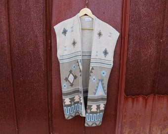 Lambswool Angora in Southwest Print Vest
