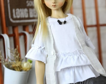 SAYOKO outfit for 10SD dollfie 1/3 BJD Doll - White TOP (No.A642)
