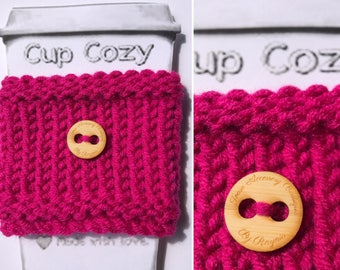 Hot Pink Coffee Cup Cozy