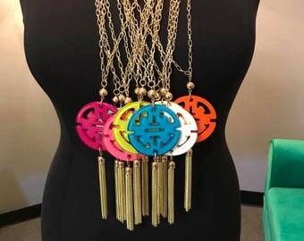 Zenzii Travel Tassel Necklace