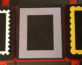 Sizzix Red Original Dies FRAMES, ZigZag, Rectangle, Scallop, Corner and BIGZ Dies Decorative Rectangle and Frame Double use Mat/Frame