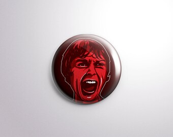 Psycho Pin Back Button - 1.25 Inch - Bates Motel - Alfred Hitchcock