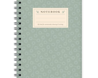Notebook A6 - Turquoise Pattern