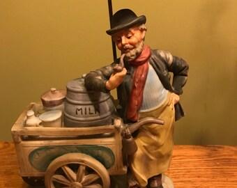 Vintage Dairy / Milk Cart Vendor Figurine