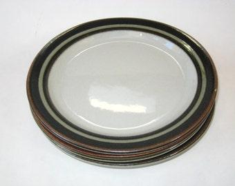 "Arabia Finland KARELIA 8"" Salad Plates Set of 4"