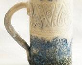 Stoneware hearts 20oz ceramic coffee mug 20D026