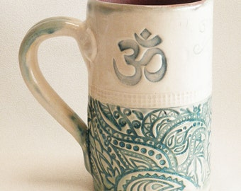 Om mug 16oz ceramic coffee mug 16B099