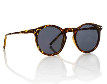 OMalley Round Tortoise Shades - Smoke X American Deadstock Vintage Glasses