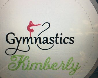 gymnastics, personalized, gymnastics towel, custom towel,