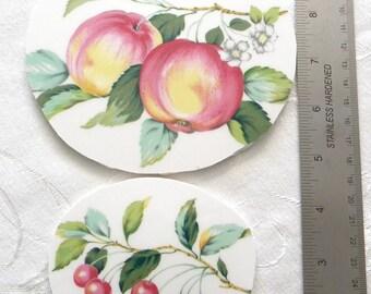 Mosaic China Tiles - Large Oval Fruit Focal Tiles - Set of 2
