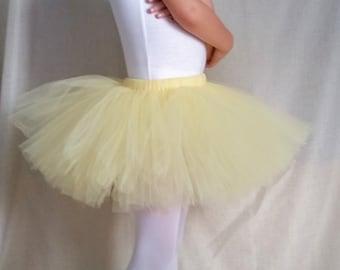 Pastel Yellow Tutu Girls sizes 6-14 | Light Yellow Tutu | Pale Yellow Tutu | Easter Tutu | Spring Tutu