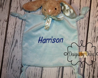 Personalized Easter Bunnies - Easter Baby Toy - Personalized Baby Gift - Baby Shower Gift - Personalized Baby Lovey - Easter Basket Stuffer