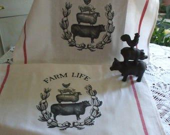 Farm House Kitchen Towels - Set of 2