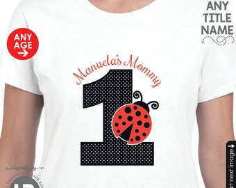 ADULT Ladybug Birthday Shirt - Personalized Ladybug Birthday Shirt