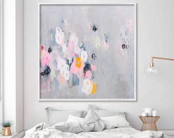 Large Art, Giclee print, Abstract Art, Modern Art, Fine Art Print, Extra Large wall art, Grey Pink, by Duealberi