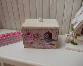 wooden box, shabby chic, th 1.12