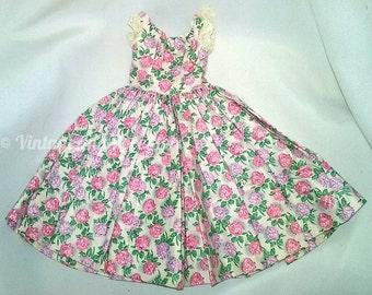 Vintage Madame Alexander Cissy Doll Floral Day Dress 1958 Rare Color