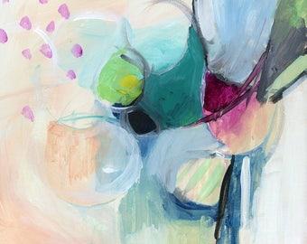 Abstract art Print, contemporary art print, Modern Art, Expressionist art, acrylic print, colorful art print, square print