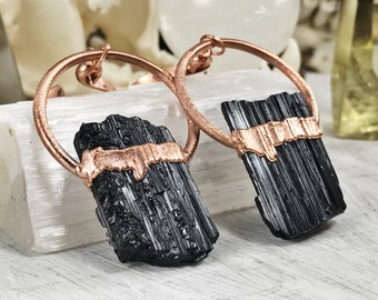 Black Tourmaline Ear Weights, ear weights, dangle plugs, plug weights, wedding plugs, dangles for gauged ears, dangle plugs, plugs, gauges