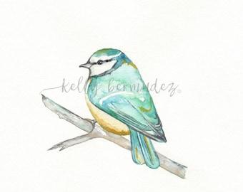 Bird Art, Watercolor, Printable Art, Printable Watercolor, Instant Download, Wall Art
