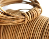 2mm Round Leather cord - Dark Natural, Tan - 10 feet, LC005