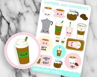 Kawaii Coffee | Planner Sticker Sheet