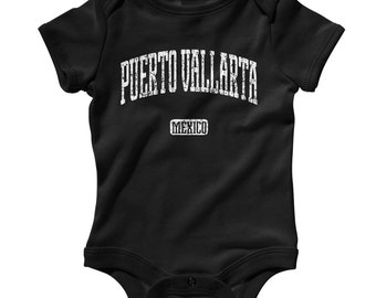 Baby One Piece - Puerto Vallarta Mexico - Infant Romper - NB 6m 12m 18m 24m - Baby Shower Gift, Puerto Vallarta Baby, Jalisco Baby, Mexican
