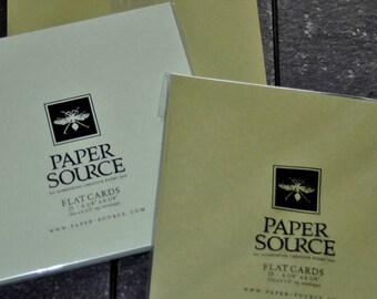 Paper Source - Set of 20 6x6 Square Cards + 10 6x6 Envelopes
