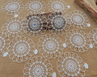 15 Tupper!  Plastic Doilies  ~  1956 Tupper! Tupper Corporation Made in USA  ~  Plastic Doilies