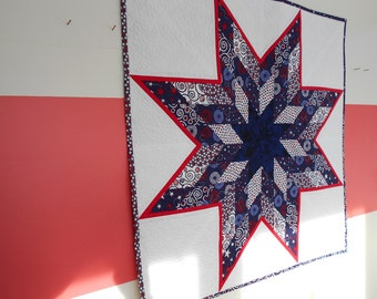 Lone Star Quilted Wall Hanging