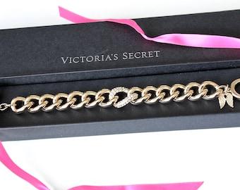 Vintage  Victorias Secret Wing  Bracelet  with clear rhinestones  #1076