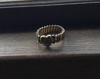 1940s Sweetheart WWII Jewelry, Heart  Bracelet WWII