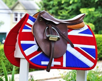 MADE TO ORDER - Union Jack Flag Saddle Pad