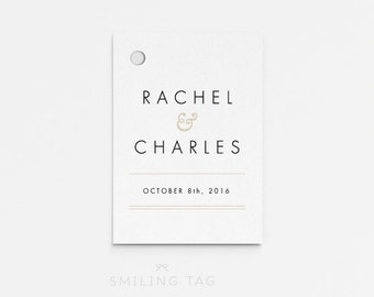 Printable Wedding Favor Tags Printable - Modern Minimalist Wedding - Bachelorette Bridal Shower Favors- Letter or A4 Size (Item code: P327)